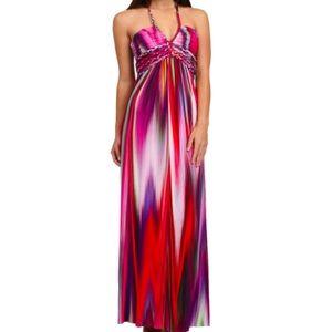 Sky brand JOLIMA halter maxi dress